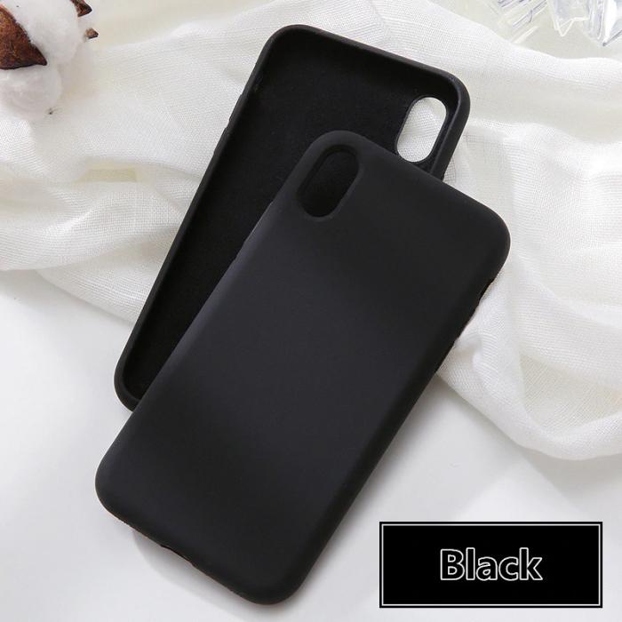 Husa silicon soft mat Iphone 6/6s - Negru 0