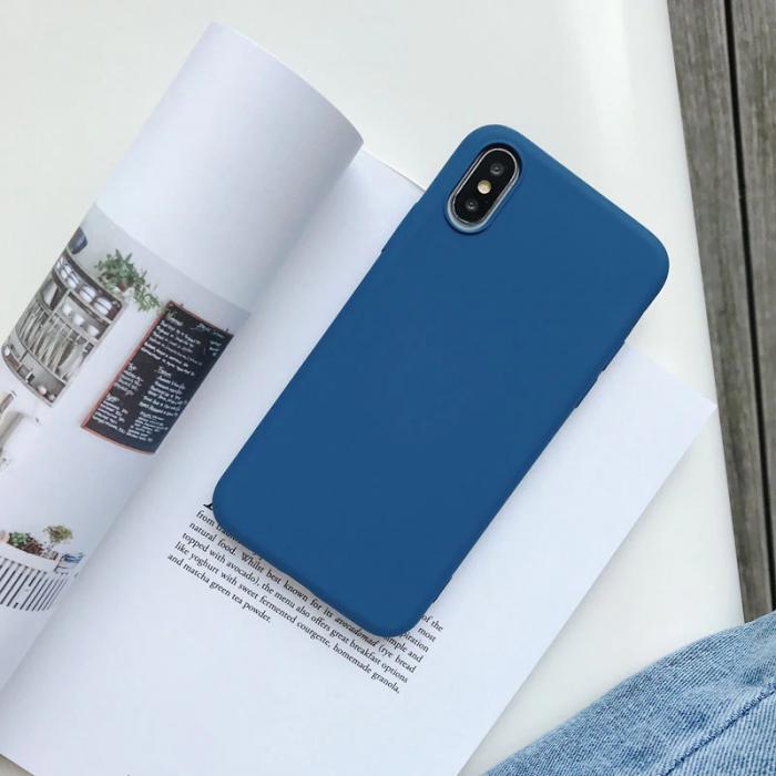 Husa silicon soft mat Iphone 6/6s - Albastru [0]