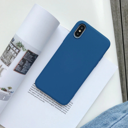 Husa silicon soft mat Iphone 7/8/SE2  - Albastru 0