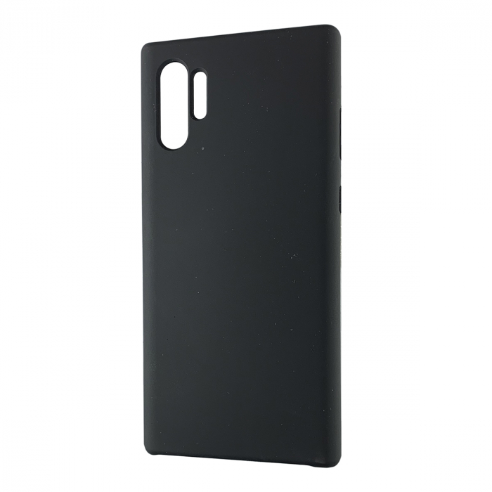 Husa silicon soft mat Samsung Note 10 Plus - Negru 0