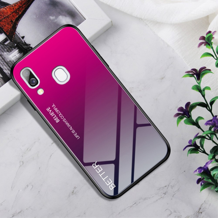 Husa silicon sticla Samsung A40 - roz [0]