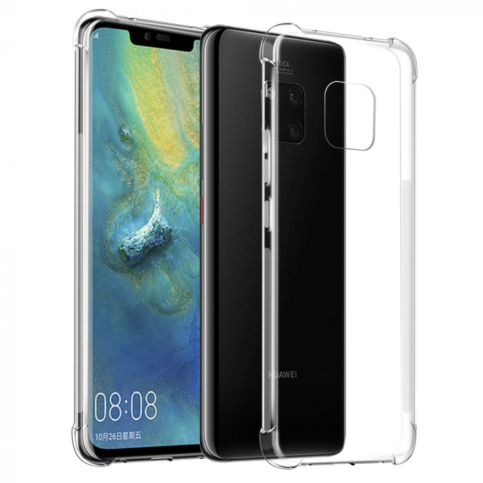 Husa silicon transparent anti shock Huawei Mate 20 Pro 0