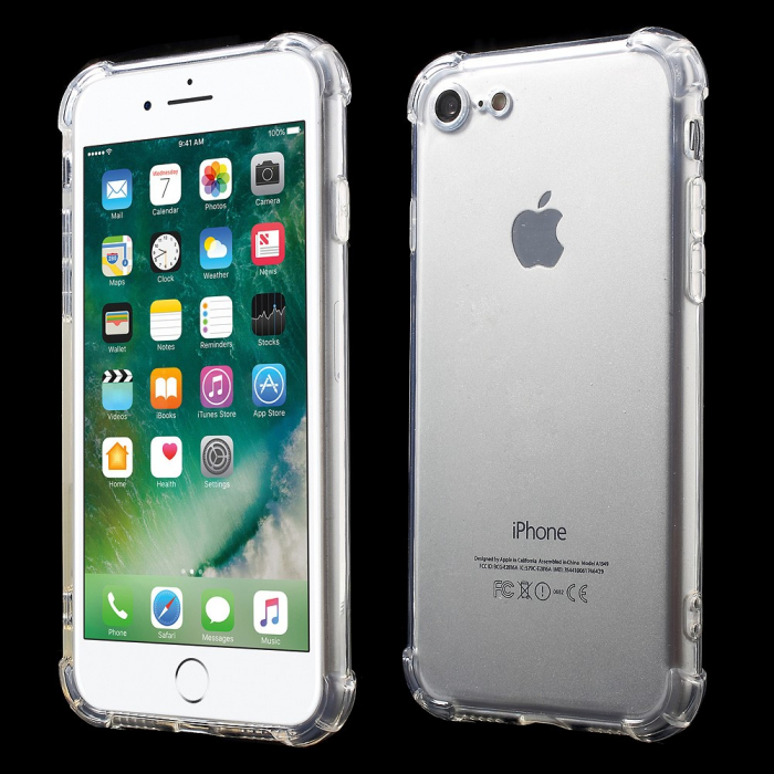 Husa silicon transparent anti shock Iphone 5/5s 2
