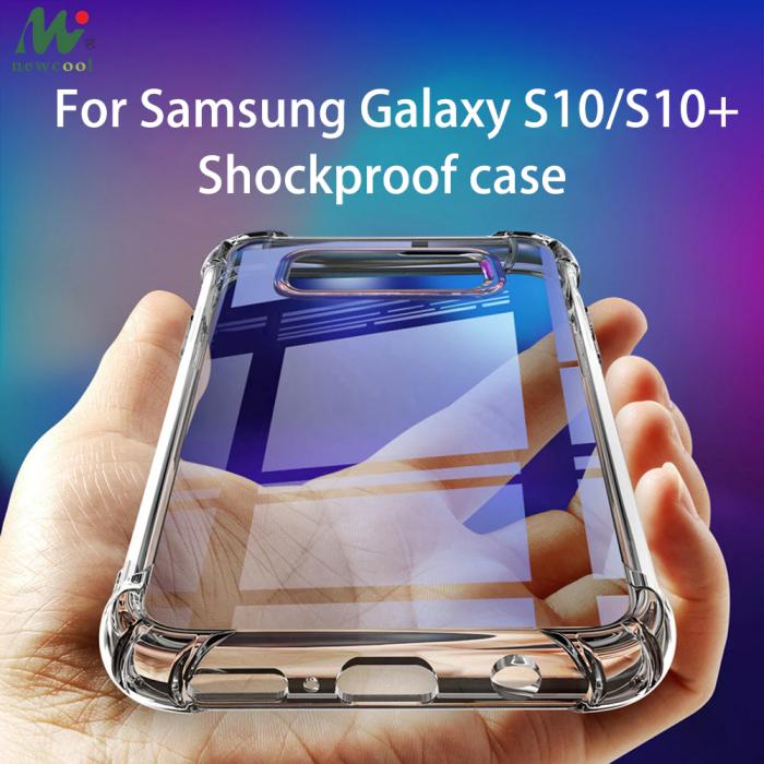 Husa silicon transparent anti shock Samsung S10 Plus 0