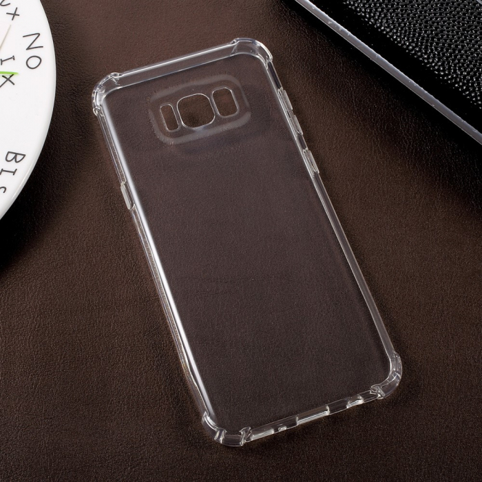Husa silicon transparent anti shock Samsung S8 plus 0