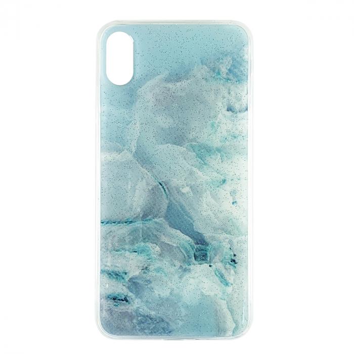 Husa silicon Venus marmura Iphone Xs Max, Albastru 0