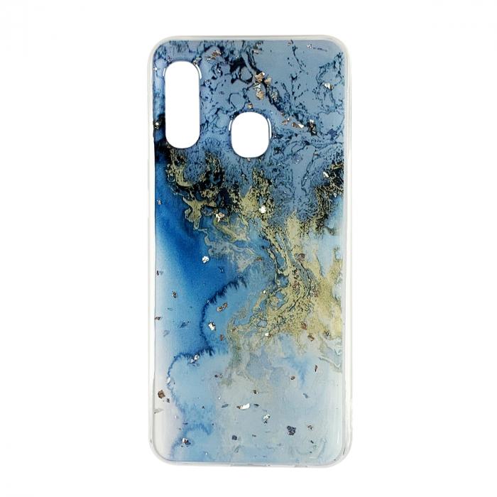 Husa silicon Venus marmura Samsung A20e, Verde-Albastru 0