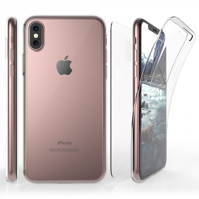 Husa silicon 360 fata+spate Iphone Xs Max 0