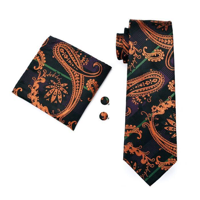 Set cravata + batista + butoni matase naturala model maro 274 [0]