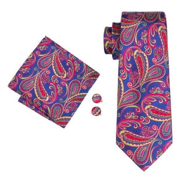 Set cravata + batista + butoni matase naturala model mov 1597 [0]