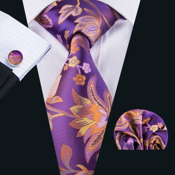 Set cravata + batista + butoni matase naturala model mov 1603 [2]