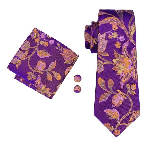 Set cravata + batista + butoni matase naturala model mov 1603 [0]