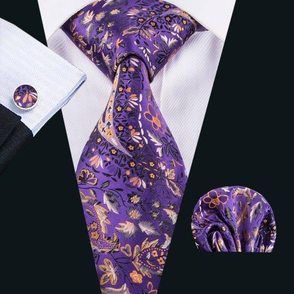 Set cravata + batista + butoni matase naturala model mov 1625 [1]