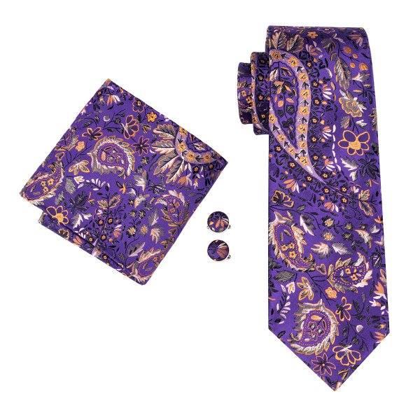 Set cravata + batista + butoni matase naturala model mov 1625 [0]