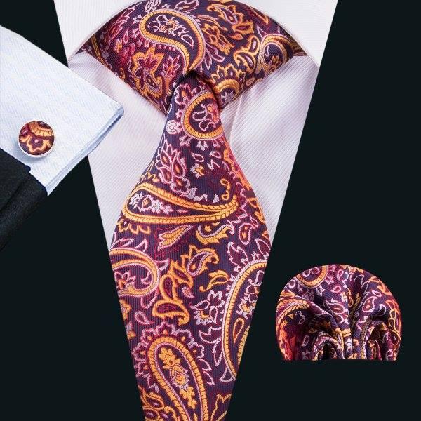 Set cravata + batista + butoni matase naturala model mov 1626 [0]
