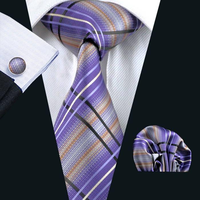 Set cravata + batista + butoni matase naturala model mov 457 [1]