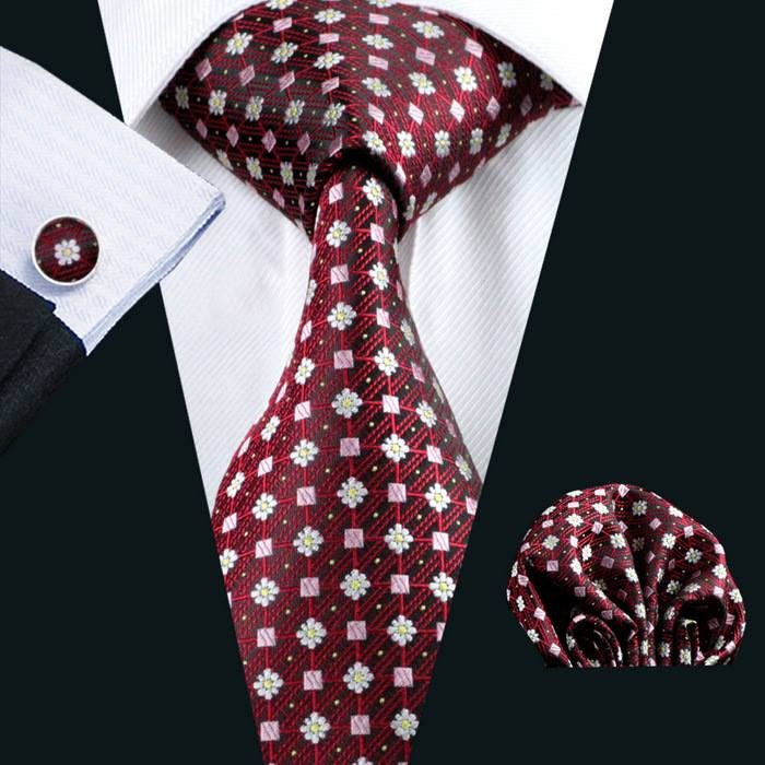 Set cravata + batista + butoni matase naturala model rosu 575 [1]