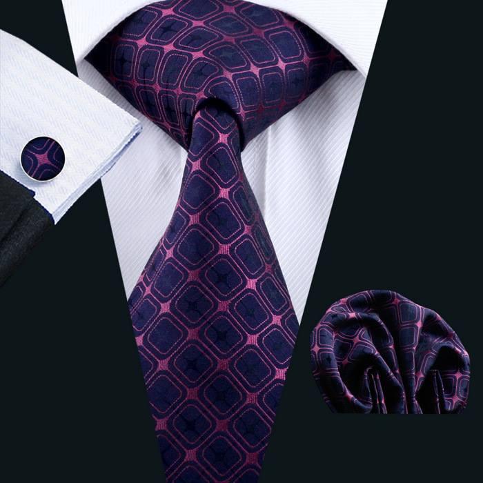 Set cravata + batista + butoni matase naturala model roz 491 [1]