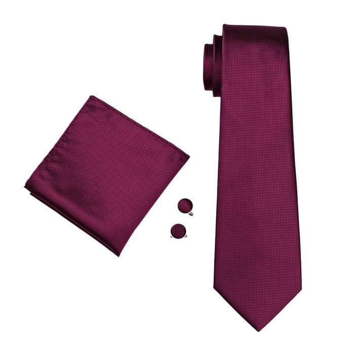Set cravata + batista + butoni matase naturala model visiniu 296 [1]
