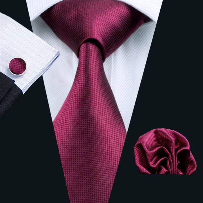 Set cravata + batista + butoni matase naturala model visiniu 296 [0]