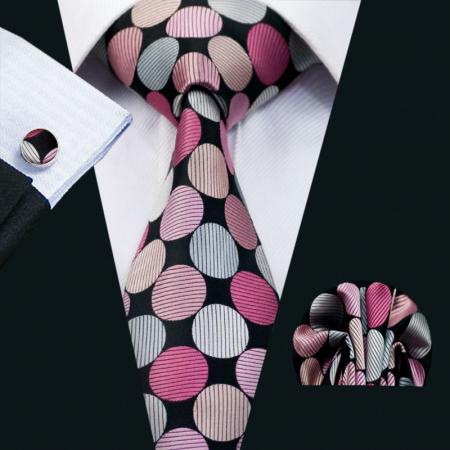 Set cravata + batista + butoni matase naturala model rose 1399 [1]