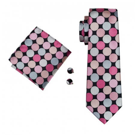 Set cravata + batista + butoni matase naturala model rose 1399 [0]