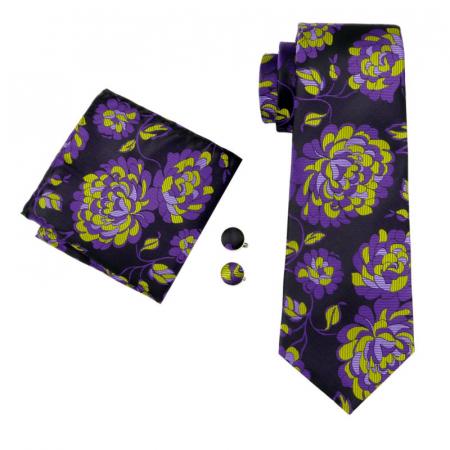 Set cravata + batista + butoni matase naturala model mov 1500 [0]