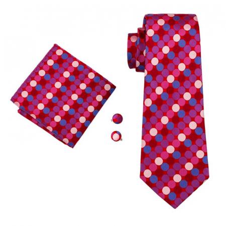 Set cravata + batista + butoni matase naturala model roz 1502 [0]