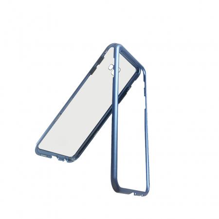 Bumper magnetic Samsung J4 plus - Albastru0