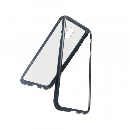 Bumper magnetic Samsung J6 plus -Negru1