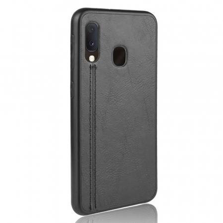 Husa silicon model piele Samsung A20e - Negru1