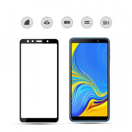 Folie sticla 9D Samsung A7 (2018) - negru [2]