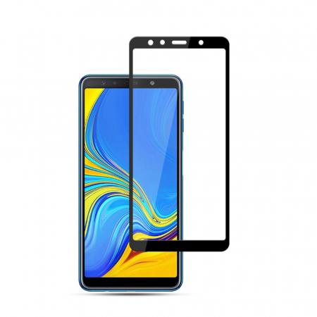 Folie sticla 9D Samsung A7 (2018) - negru [1]