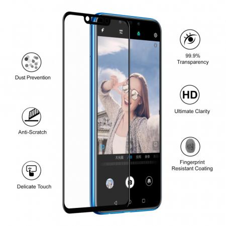 Folie sticla 5D Huawei Psmart (2018) - negru2