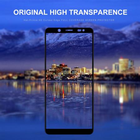 Folie sticla 5D Samsung A6 (2018) - negru2