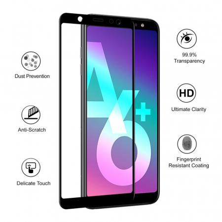 Folie sticla 5D Samsung A6 plus (2018) - negru2