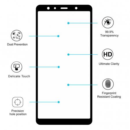 Folie sticla 5D Samsung A7 (2018) - negru2