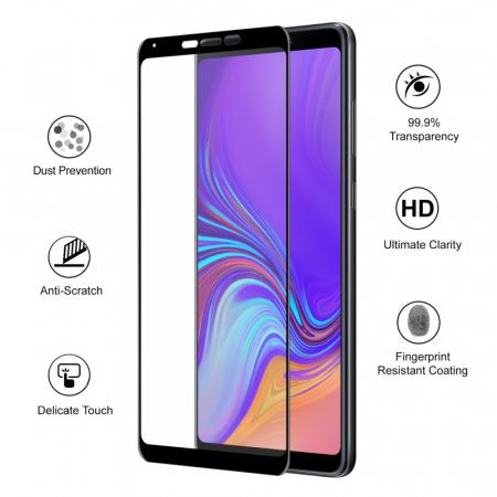 Folie sticla 5D Samsung A9 (2018) - negru1