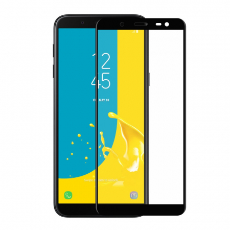 Folie sticla 5D Samsung J6 (2018), Negru0