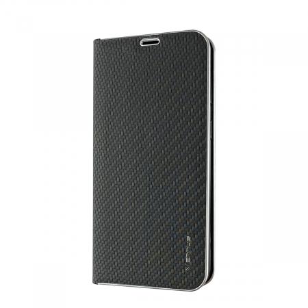 Husa carte Venus carbon Samsung A40  - negru [0]