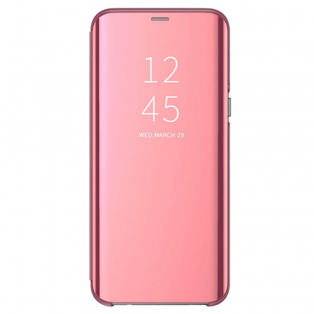 Husa clear view Samsung A10, Rose0