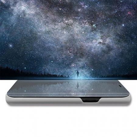 Husa clear view Samsung A6 plus (2018), Silver1