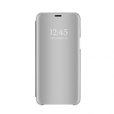 Husa clear view Samsung S10, Silver2