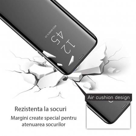 Husa clear view Samsung S10, Negru1