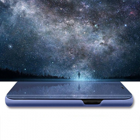Husa clear view Samsung S10E, Albastru2