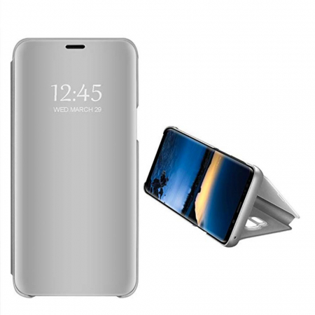 Husa clear view Samsung S9 plus, Silver2