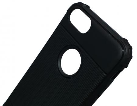 Husa silicon anti shock cu striatii Iphone 8 plus, Albastru3