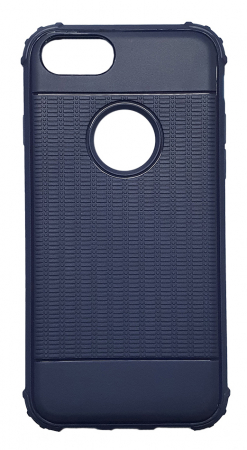 Husa silicon anti shock cu striatii Iphone 8 plus, Albastru0