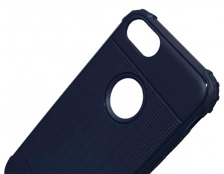 Husa silicon anti shock cu striatii Iphone 8 plus, Albastru2