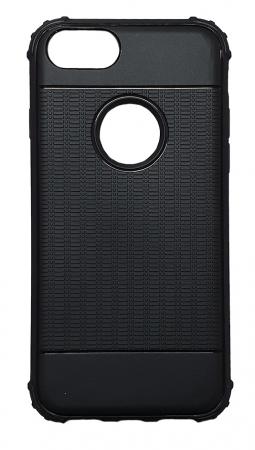 Husa silicon anti shock cu striatii Iphone 8 plus, Albastru1